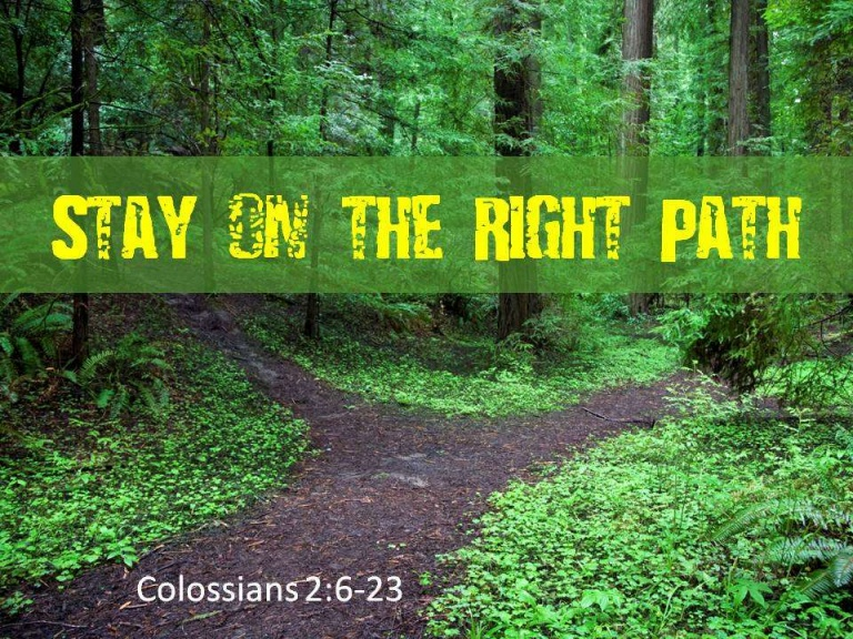 I WILL!…STAY ON THE RIGHT PATH Sunday June 14, 2020